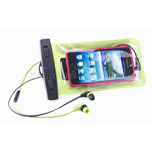BINGO 5.5吋手機防水袋附耳機孔(綠)
