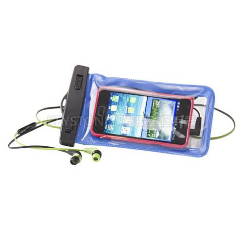 BINGO 5.5吋手機防水袋附耳機孔(藍)