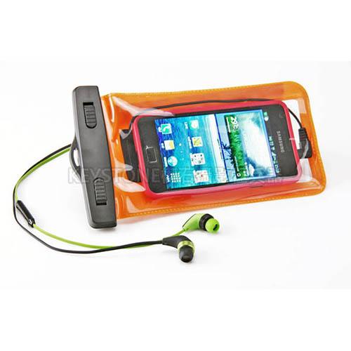 BINGO 5.5吋手機防水袋附耳機孔(橙)