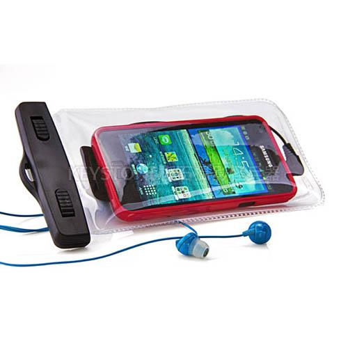 BINGO 5.5吋手機防水袋附耳機孔(白色)