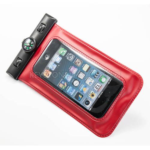 BINGO 5吋手機防水袋含指北針  (紅色)