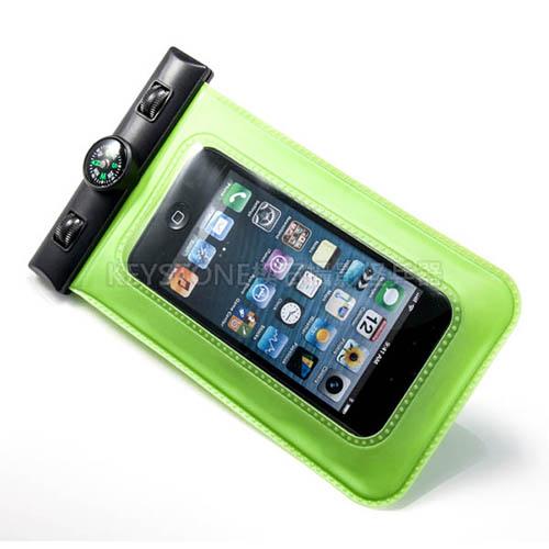 BINGO 5吋手機防水袋含指北針  (綠色)