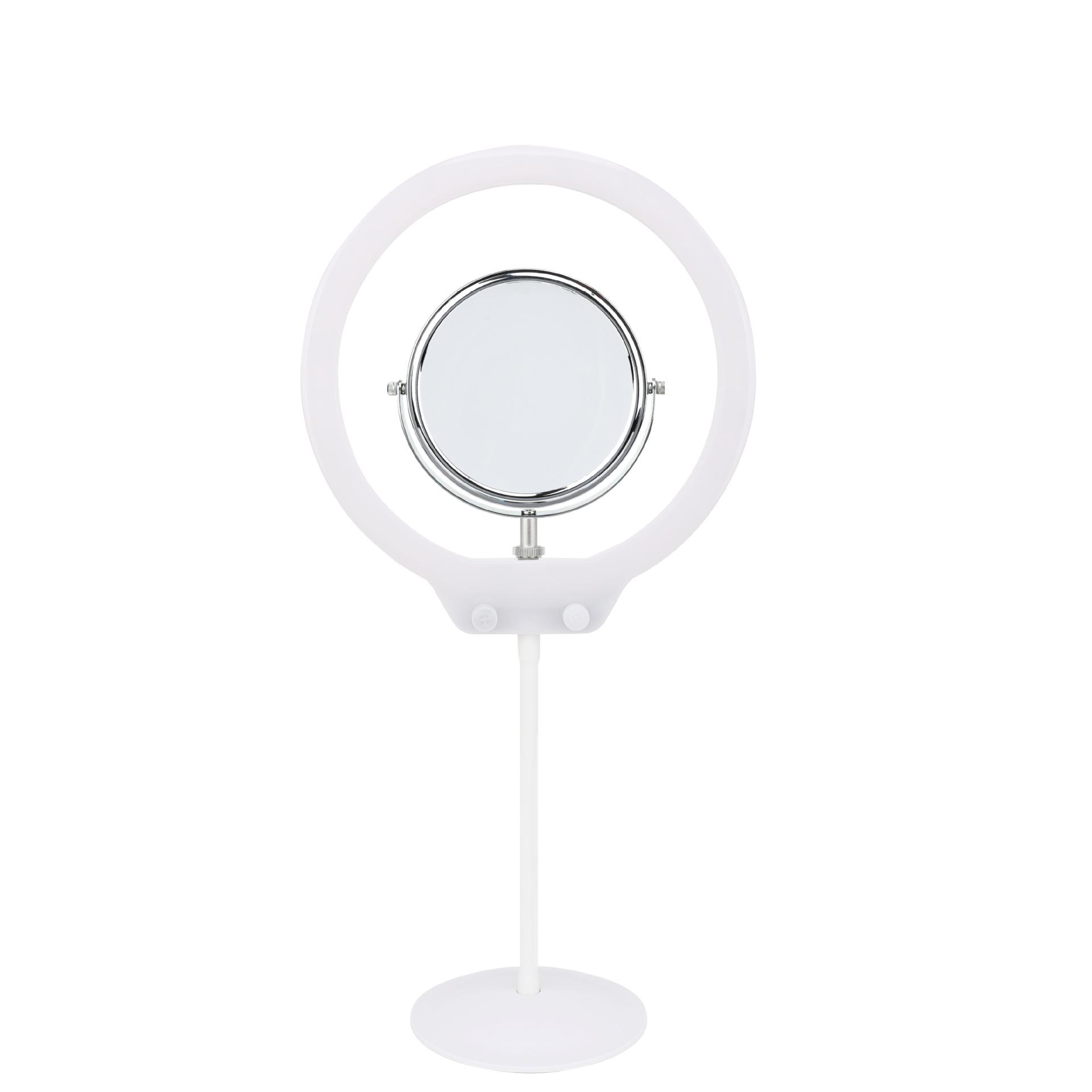 Zomei 美妝雙色溫環燈含鏡子(白)