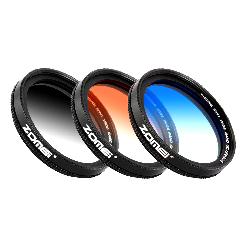 ZOMEI 手機漸變濾鏡套組(灰、藍、橙)