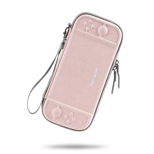 Bagsmart Nintendo Switch防震保護包(粉)