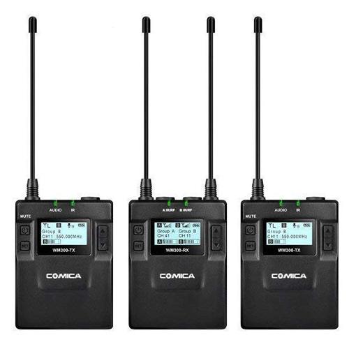 COMICA WM300A 全金屬無線麥克風 (一對二)