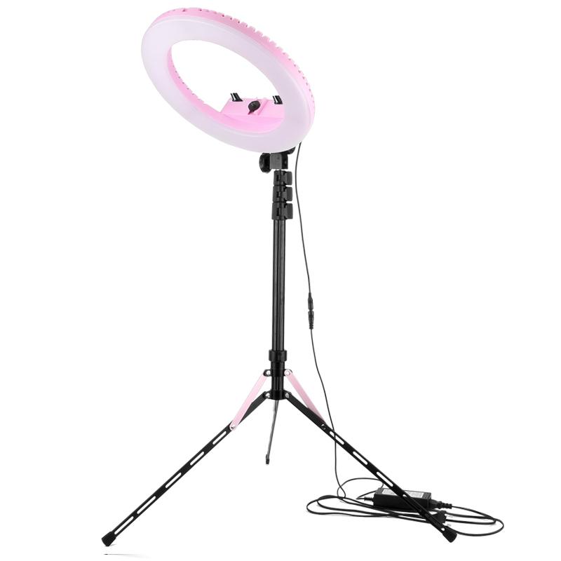 輕裝時代 20W 美顏補光環燈組合(粉紅)