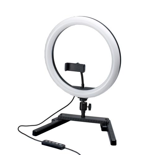 Keystone 12吋 RGB特效音感環燈(附桌上架)