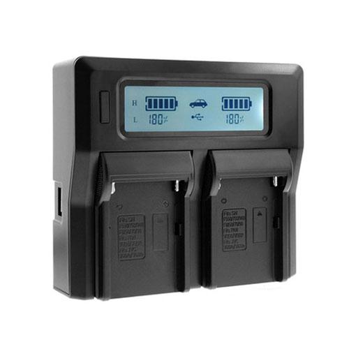 LOOKIN NP-F970 LCD 智能雙座快速充電器