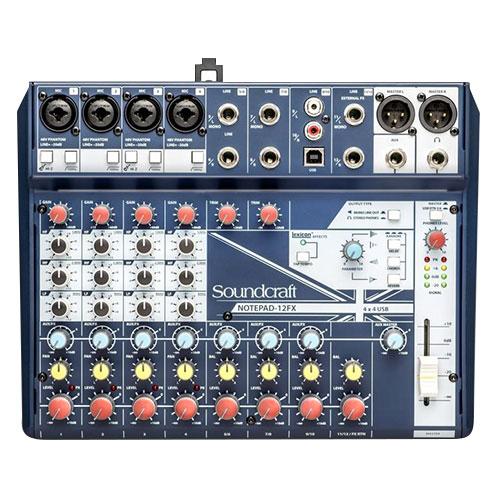 Soundcraft Notepad-12FX USB混音機