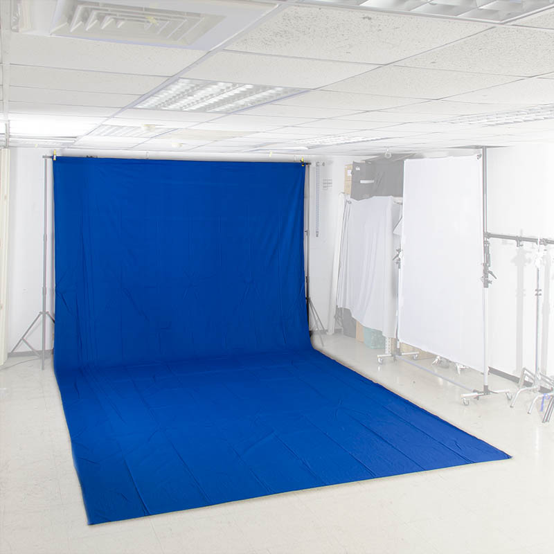 KEYSTONE 3*6m 加厚背景布(去背藍色)