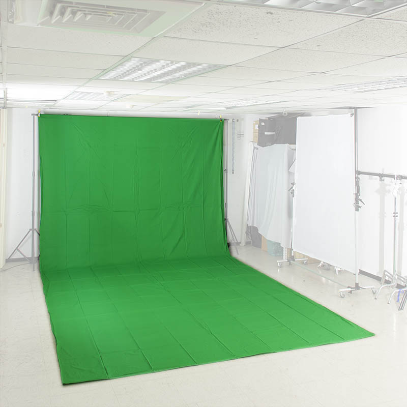 KEYSTONE 3*6m 加厚背景棉布(去背綠色)