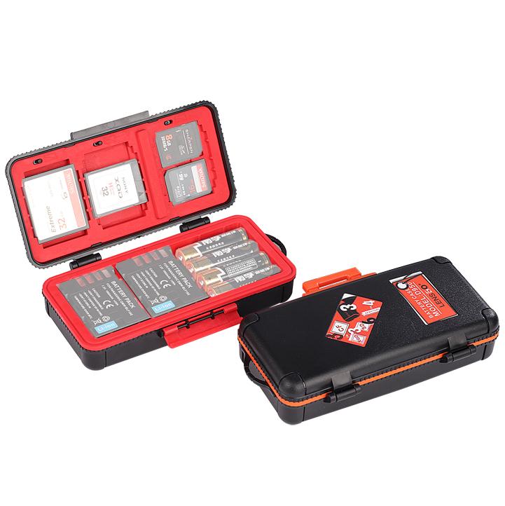 LENSGO 三電池記憶卡保護盒(手提箱型)