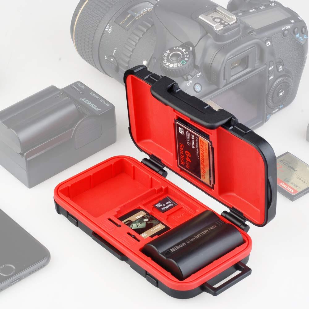 LENSGO 雙電池記憶卡保護盒(拉桿箱型)