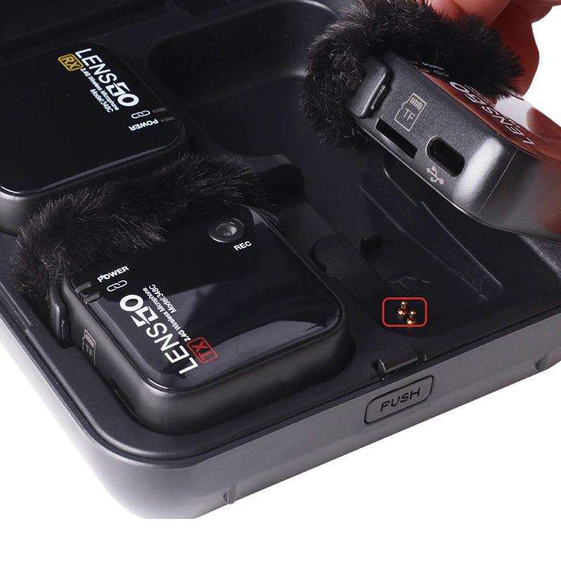 LENSGO 348C 插卡無線麥克風組 1對2 (黑)
