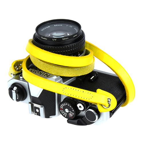 Arnuvo 尊榮真皮相機細背帶(鮮黃)