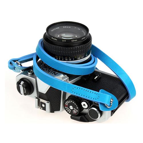 Arnuvo 尊榮真皮相機細背帶(土耳其藍)