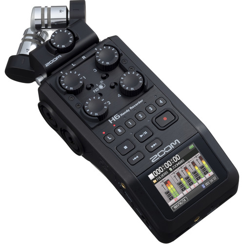 Zoom H6 BLACK 可換麥克風手持數位錄音機