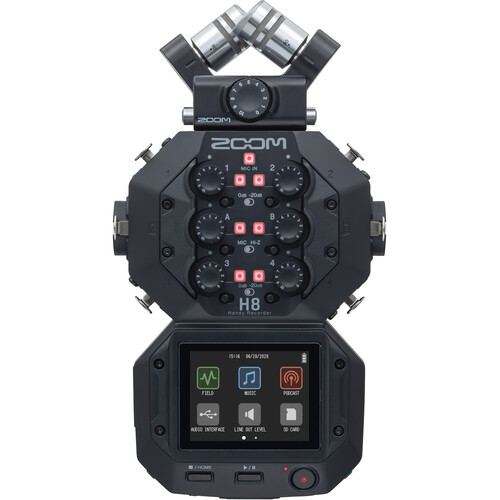 Zoom H8 可換麥克風手持數位錄音機