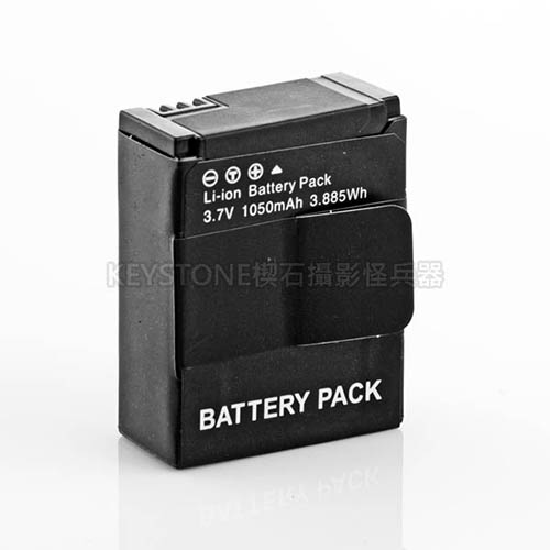 ROWA 副廠鋰電池(1050mAh) FOR GOPRO 3