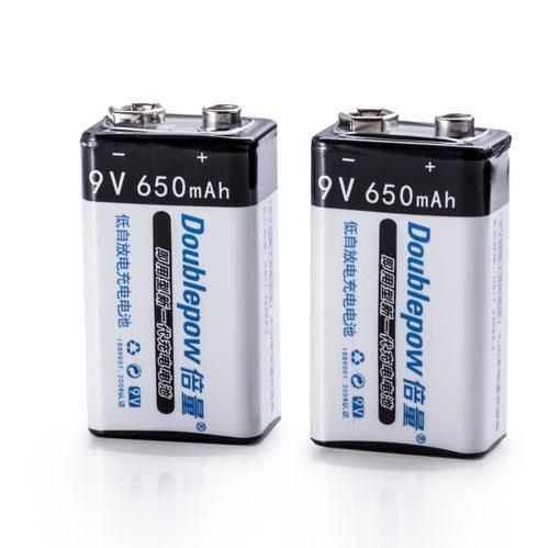 倍量9V恆壓鋰電池(USB充電)2入