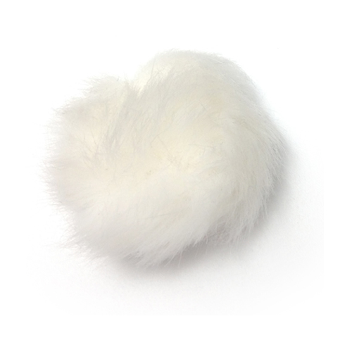 領夾麥克風(小蜜蜂)防風毛套0.5--白