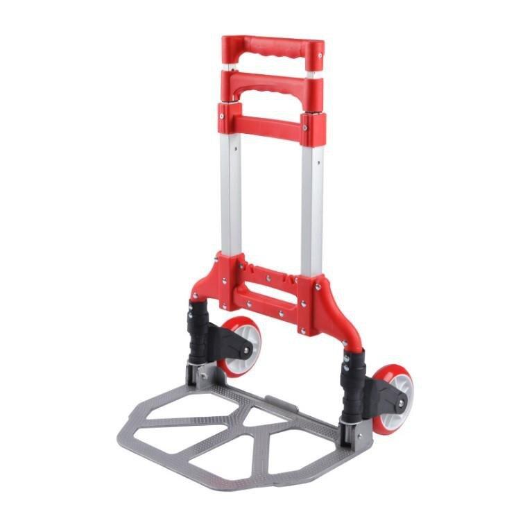 耐重型摺疊拉車(紅色)