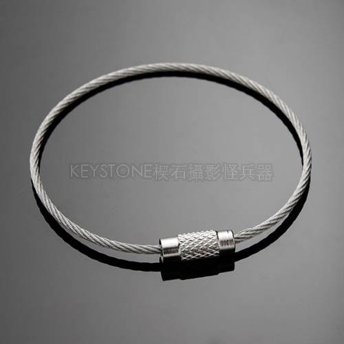 EDC不銹鋼絲圈(銀色/15cm)