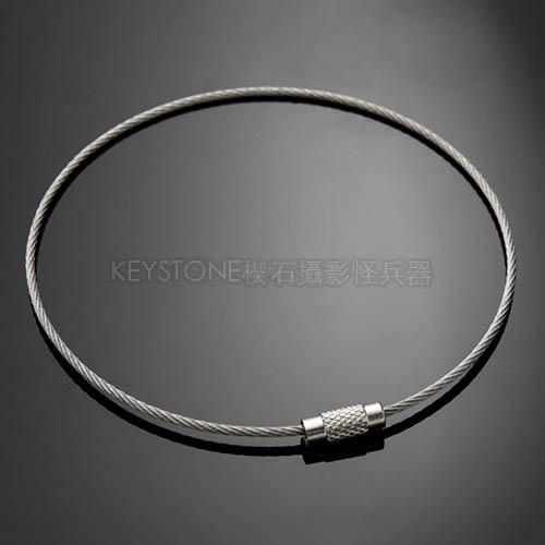 EDC不銹鋼絲圈(銀色/30cm)