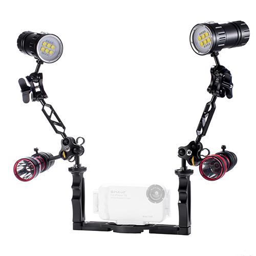 Keystone 潛水相機可調整雙手把支架組(600W)