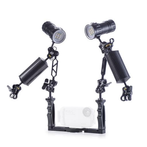Keystone 潛水相機可調整雙手把支架組(1000W)