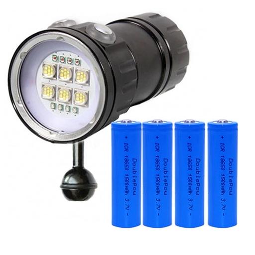 KEYSTONE 500W 三色多功能潛水燈(附鋰電池)