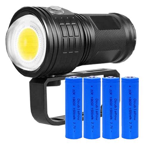 KEYSTONE 三色COB潛水燈(附鋰電池)