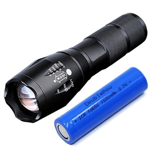 KEYSTONE 強光調焦手電筒(附鋰電池)