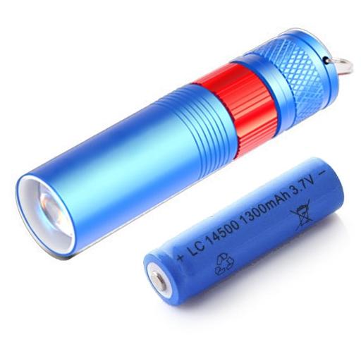 KEYSTONE 多功小手電筒-藍(附鋰電池)