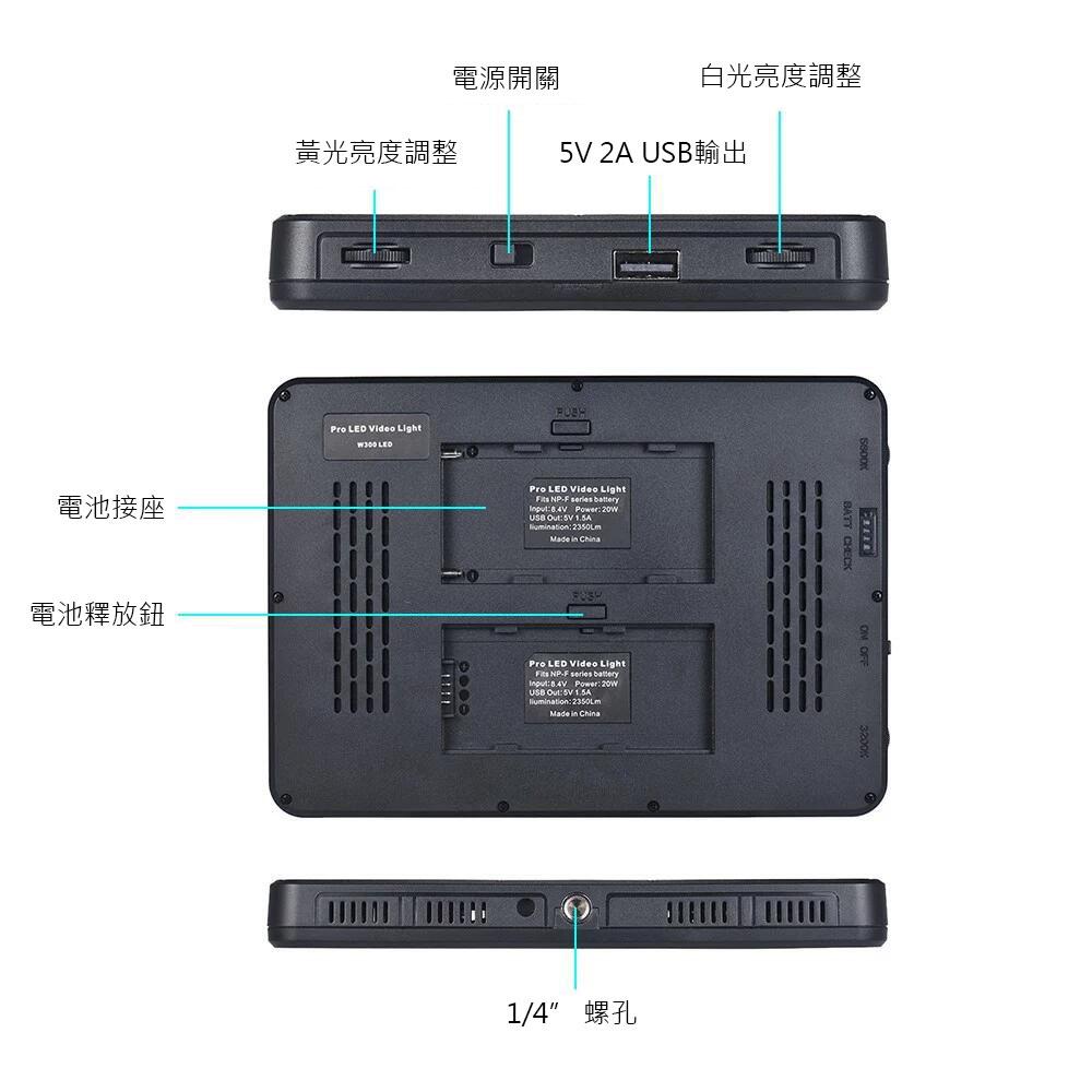 KEYSTONE PAD-500雙色溫LED燈(帶USB輸出)