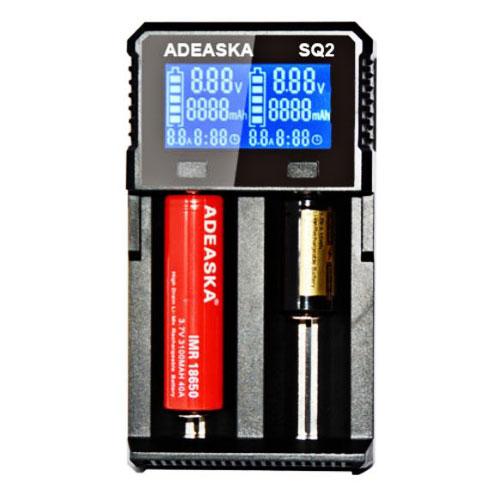 ADEASKA 全規格 智能檢測快速充電器(2槽)