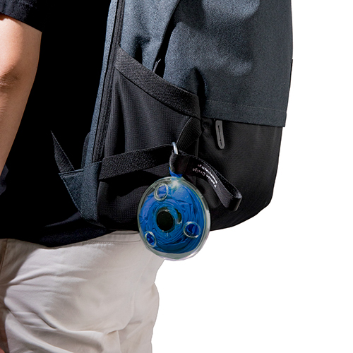 捲式圓盤購物袋(藍)