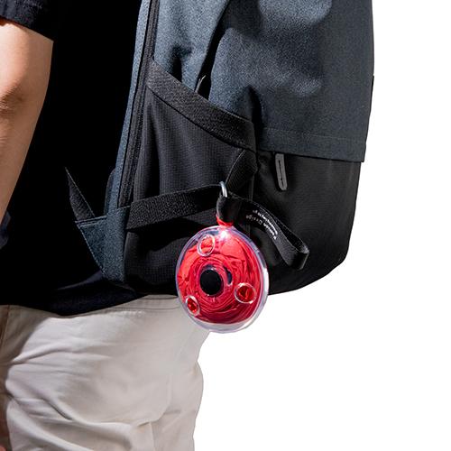 捲式圓盤購物袋(紅)