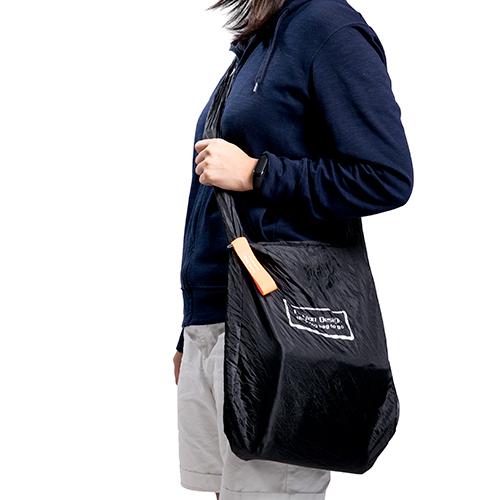 捲式圓盤購物袋(黑)