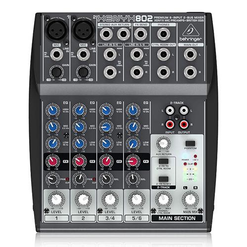 Behringer XENYX 802 USB 八軌混音機錄音座