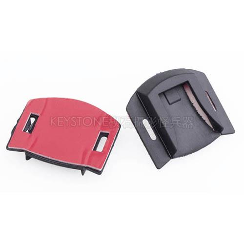 黏貼式塑膠熱靴座(2入)