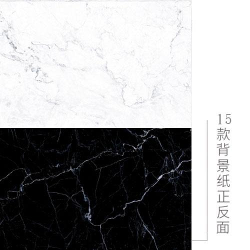 KEYSTONE 雙面低反光仿真背景紙-15黑/白大理石紋