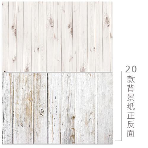 KEYSTONE 雙面低反光仿真背景紙-20白色粗細木紋