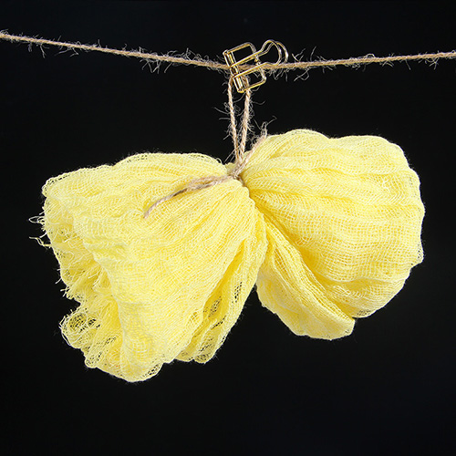 KEYSTONE 拍攝道具 復古棉紗巾60*90cm(粉黃)