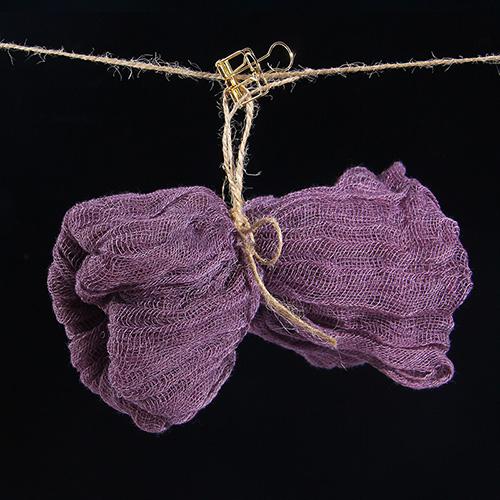 KEYSTONE 拍攝道具 復古棉紗巾60*90cm(灰紫)