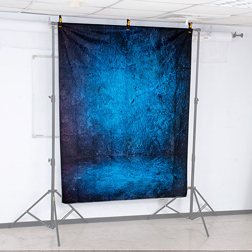 KEYSTONE 絨面背景布-藍染150*200CM