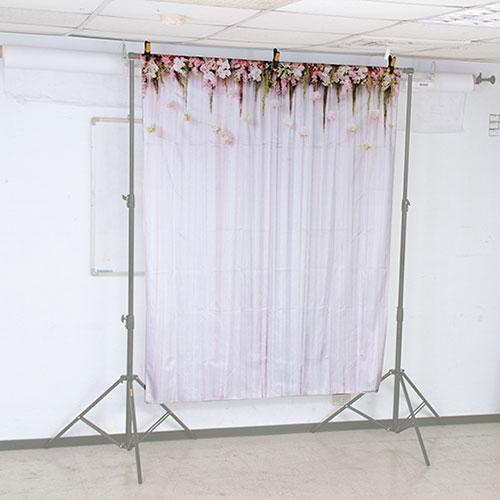 KEYSTONE 絨面背景布-花卉綴簾150*200CM