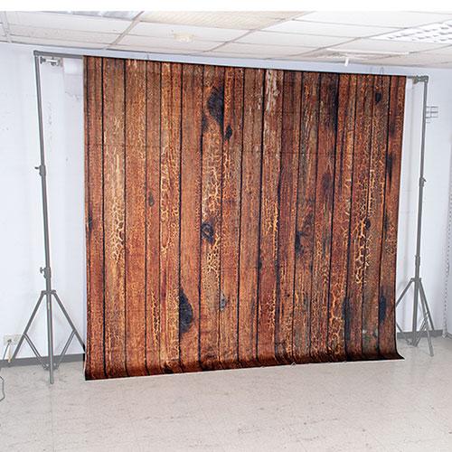 KEYSTONE 絨面背景布-舊木牆250*250CM(橫幅)