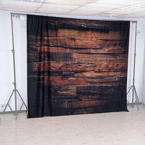 KEYSTONE 絨面背景布-棕色木板紋250*250CM